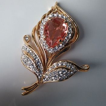 Nolan Miller exotic flower  - Costume Jewelry