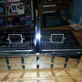 All Chrome Art Deco Food Warmer   - Kitchen