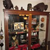 Large Antique Display Trophy Cabinet Out of Old School