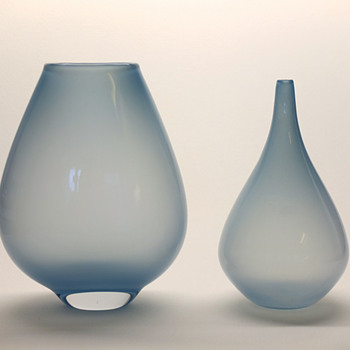 Rare light blue Gunnar Nylund vases - Strombergshyttan mid 1950s. - Art Glass