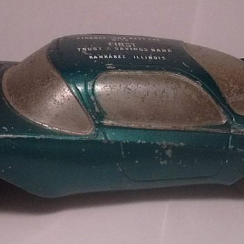 1950's Futuristic Banthrico Autobank Car ! - Model Cars