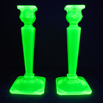 Tall and heavy candlesticks - Glassware