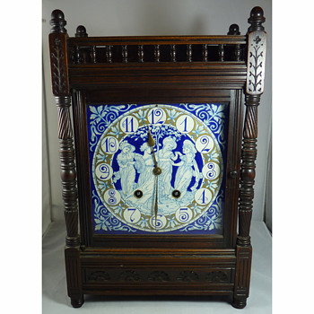 Aesthetic Movement Clock, the enamel face designed by Walter Crane and Lewis Day