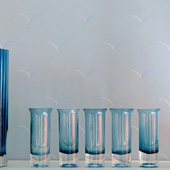 Lovely Aseda blue color tint! - Art Glass