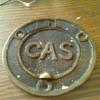 brass gas sign/lid not sure