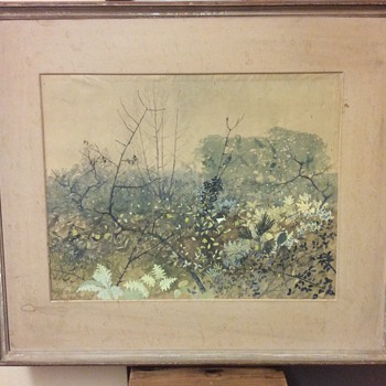 "1940s Watercolour Painting ""The Rough Wood"" Lionel Bulmer - Fine Art"