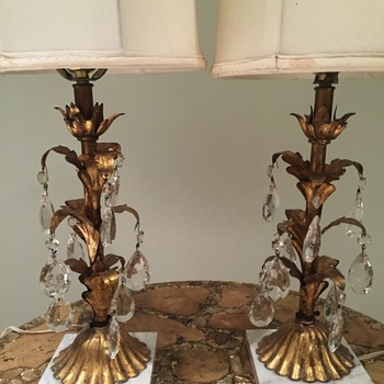 Italian  table lamps  early 1900s? Possible Hollywood regency.