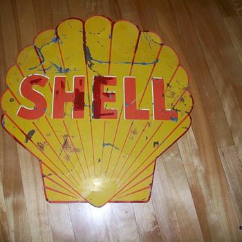 Antique SHELL sign from Alberta Canada... - Petroliana