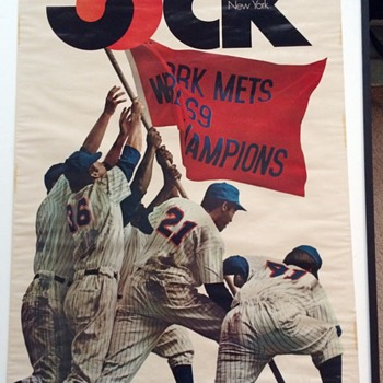 NEW YORK METS JOCK MAGAZINE POSTER 1969