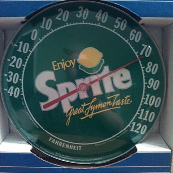 jumbo dial thermometer Sprite 1984 - Advertising