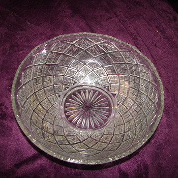 Help With EAPG Diamond Pattern Bowl - Glassware