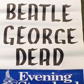 George Harrison-2001 - Music Memorabilia
