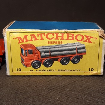 Mostly Mainly Manly Matchbox Monday MB 10 Pipe Truck E Box - Model Cars