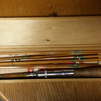 Hackco DeLuxe Fly and Baitcasting Rod Vintage Bamboo