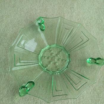 green glass Art Deco