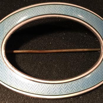 Sterling Guilloche Brooch - Fine Jewelry