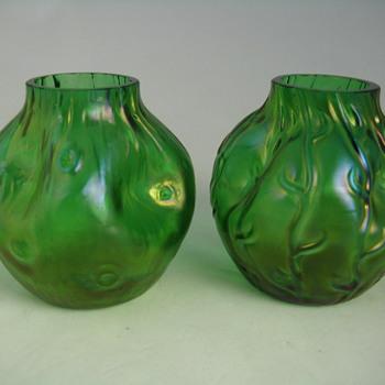 Bohemian vases - Same Maker? - Art Glass