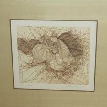 Guillaume  Azoulay Horses - Fine Art
