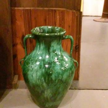 "Beautiful Signed ""Heavy Drip Glaze"" 21"" Amphora-like style Urn"
