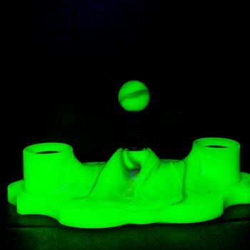 Houze Slag Glass Ceiling Fixture Uranium  Rare Piece - Lamps