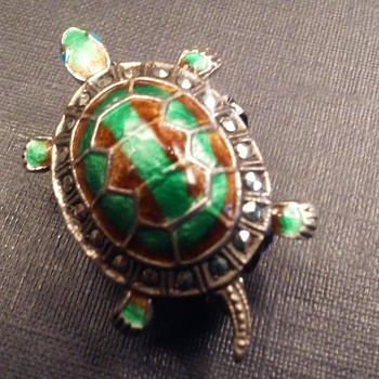 Caviness sterling turtle pin - Animals