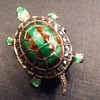 Caviness sterling turtle pin