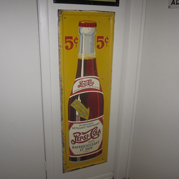 Self framed double dot vertical Pepsi sign - Signs