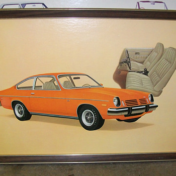 1972 Chevy Vega showroom poster