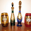 Enameled Bohemian Decanters & Jars