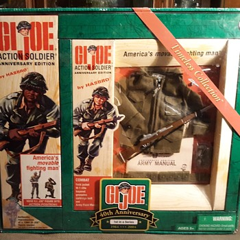 GI Joe 40th Anniversary Action Soldier Combat Set with African American Figure - Toys