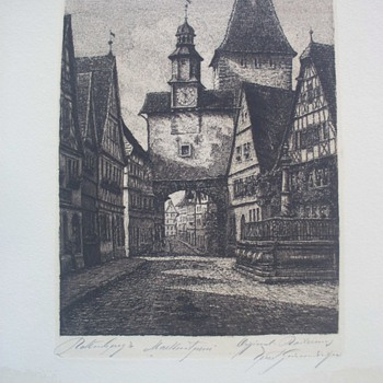 Unidentified Drawing of European location.