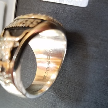 10k silver ring? Metal detecting find
