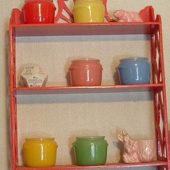 Glass jars...has many diferent colors. - Glassware