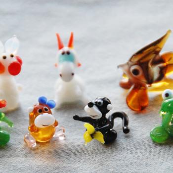 Russian Art Glass Animal Figurines - Art Glass