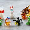 Russian Art Glass Animal Figurines