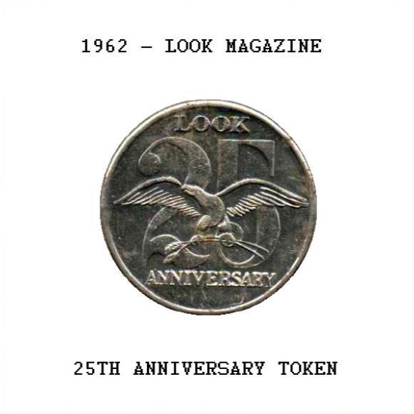 VINTAGE Look Magazine 25th Anniversary Silver Metal Souvenir Collectible Medallion Coin