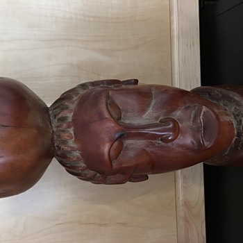 Very heavy wood carving.  African? - Folk Art