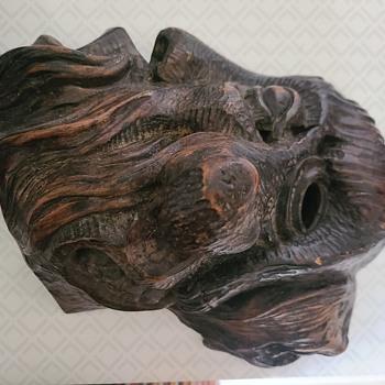 Wood carved Faces - Folk Art
