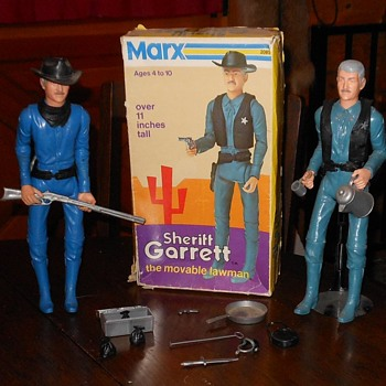 Marx Johmmy West Sheriff Garrett in Cactius Mod Box 1973 - Toys