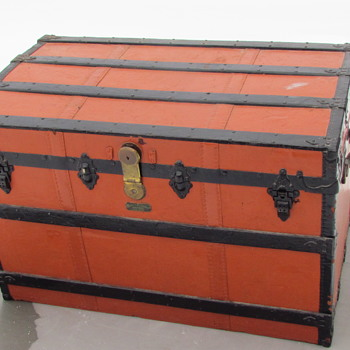 1880's -1890s Crouch & Fitzgerald Roll top Trunk - Furniture