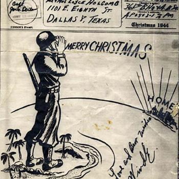 V Mail Christmas Card 1944