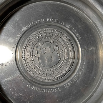 1937 Henning Wolfhagen Shallow Pewter or Nickel Silver Bowl - Silver