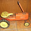 Vintage Push & Pull all Metal Ride-On Tractor Toy