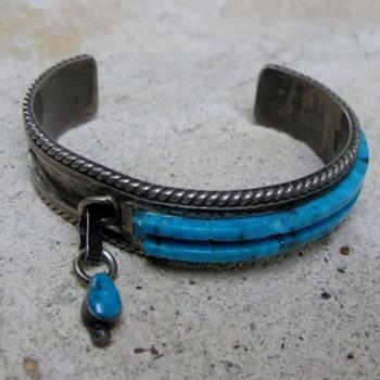 Turquoise bracelet - Zuni, Navajo?  - Fine Jewelry