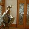 bevelled crystal door to bedroom