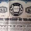 First bond issue for the township of tel aviv-municipal bond-1922