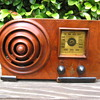 Emerson Ingraham Bullseye  Wood Tube Radio AX-212  from 1938