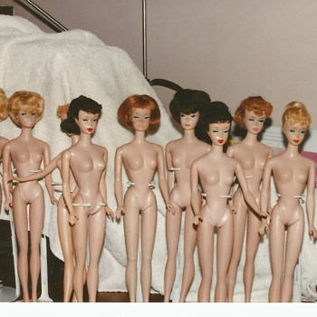 Some of my old dolls that lost clothes :-)  - Dolls