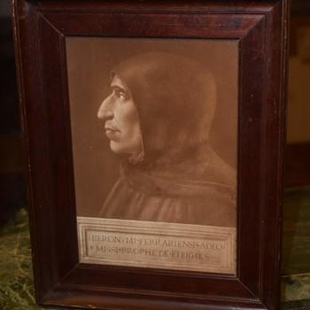 HIEREONYMI FERRARIENSIS ADEO MISSI PROPHETAE EFFIGIES - Fine Art