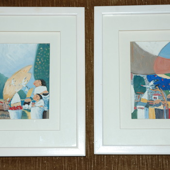 4 Framed Paintings by MINK  - Fine Art